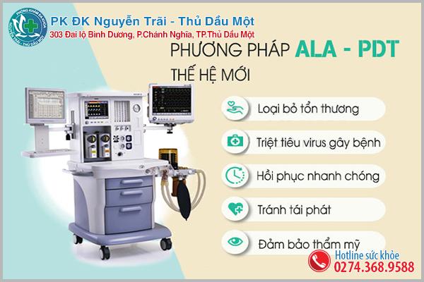 Hỗ trợ điều trị sùi mào gà bằng phương pháp ALA-PDT tại Đa Khoa Nguyễn Trãi - Thủ Dầu Một