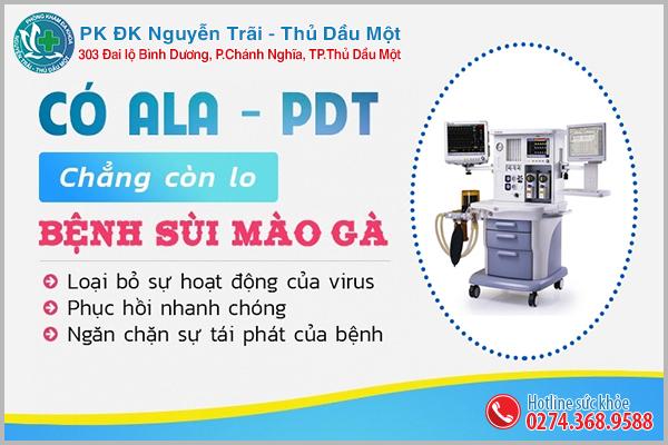 Phương pháp ALA - PLT hỗ trợ trị sùi mào gà hiệu quả