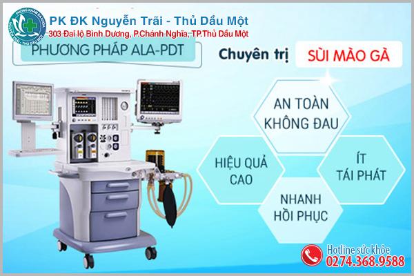 Phương pháp điều trị sùi mào gà hiện đại ALA-PDT